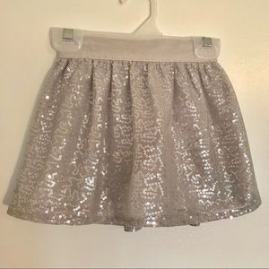 👧 Carter's Silver Sequined Skirt
